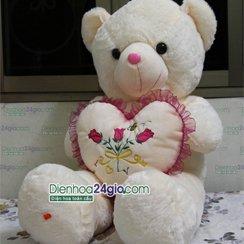 Gấu ôm tim, gấu bông