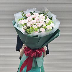 Bó hoa hồng phớt - Điện hoa 24h