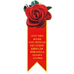 hoa cài áo đại biểu 06